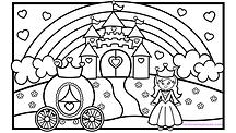 Princess Castle Coloring Page.001.png