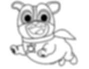 Puppy Dog Pals Captain Dog Coloring Page