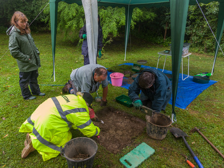 Stroud Big Dig day 5 - rain stopped play