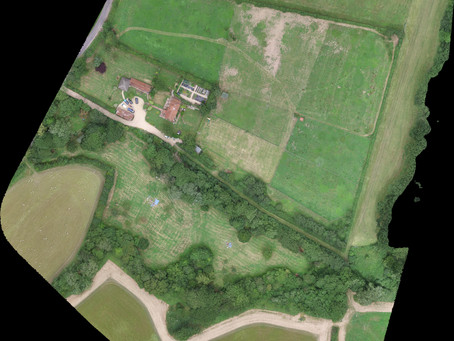 Drone imagery of today's site