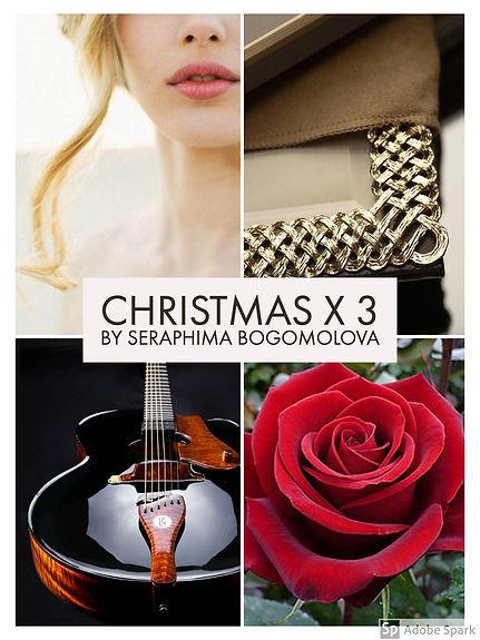 a girl, a silver photo frame, a black guitar, a red rose
