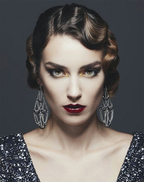 young woman in 20s style