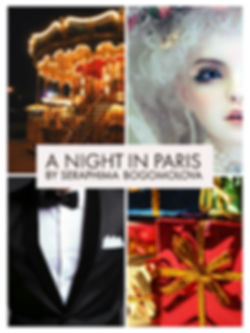 black tux, presents, a doll's face, carousel in paris