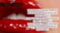 rouge partly opened lips and a quote from the screenplay A Tricky Game