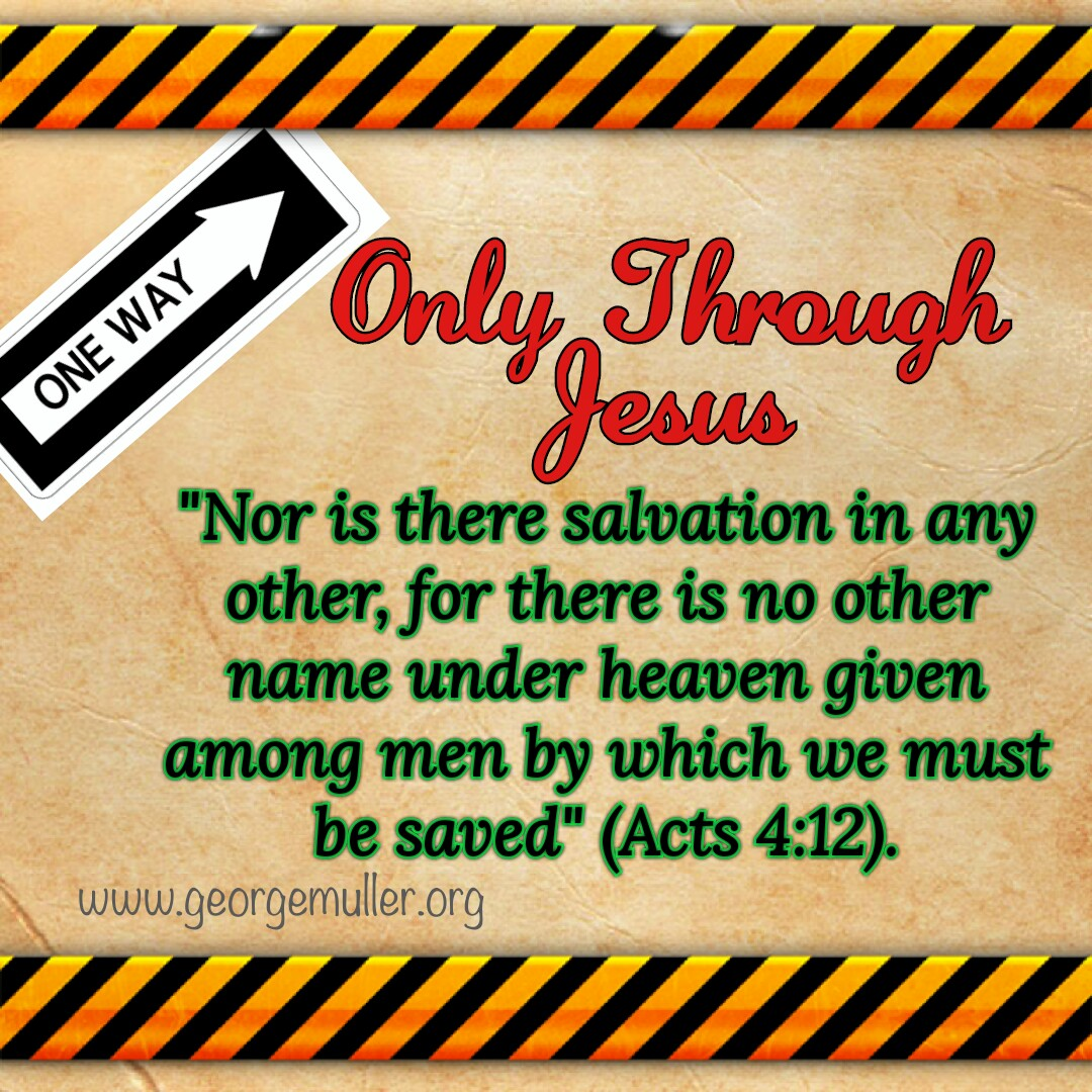 Salvation Only Through Jesus