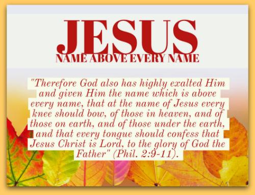 Name Above Every Name