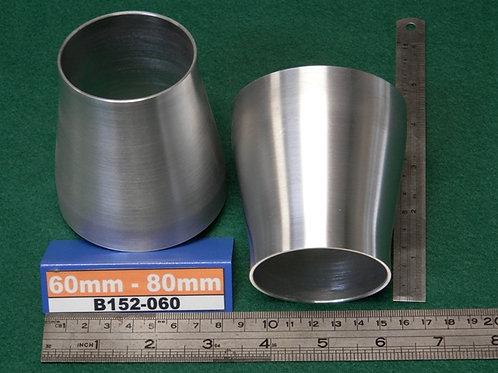 152-060: REDUCER 60mm - 80mm (2.0# ALI)