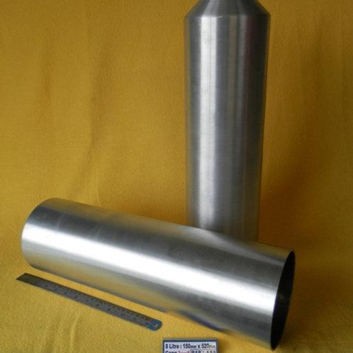 157-155: OIL TANK 150mm x 520mm Deep ( 8 Litre) - 3.0# ALI - Cone End