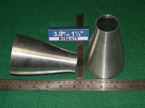 152-075:REDUCER 3.0 inch - 1 1/2 inch