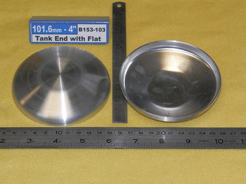 153-103: TANK ENDS 4.0 inch OD with flat