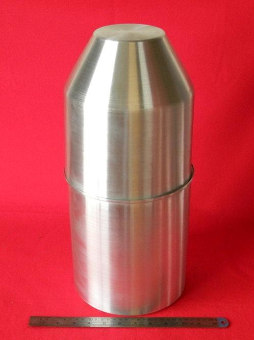 157-200: OIL TANK 200mm x 450mm Deep - 3.0# ALI - Flat end