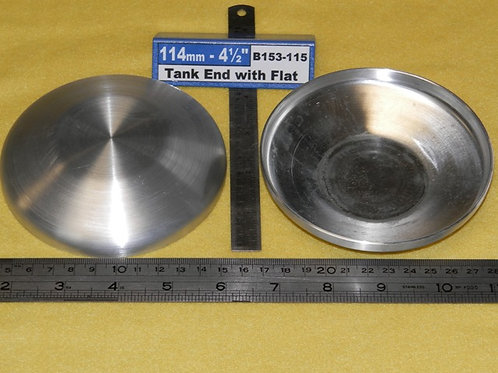 153-115: TANK ENDS 4 1/2 inch OD with flat