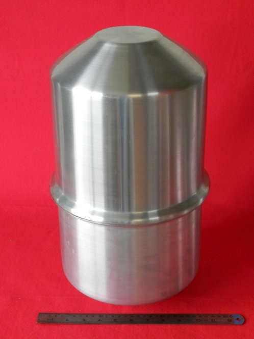 157-230:OIL TANK 230mm x 450mm Deep - 2.0# ALI - Flat End