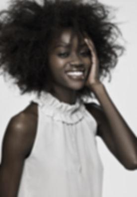 Hair Model Smiling