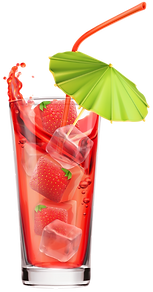 Strawberry Cocktail PNG Clipart Image.pn