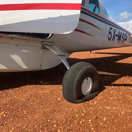 A Flat Tire, on an Aircraft, in a Remote Location...