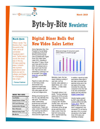 Digital Diner Newsletter - March 2019