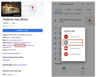 Waitbusters Dining Announces Online Ordering Integration With Google Search and Maps