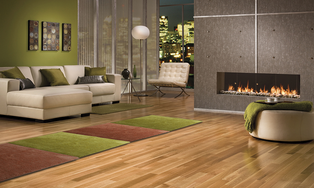 olivově zelený a hnědý koberec
