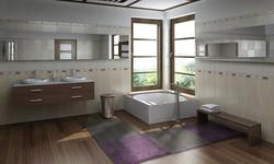 koberce na zip v koupelně fialová