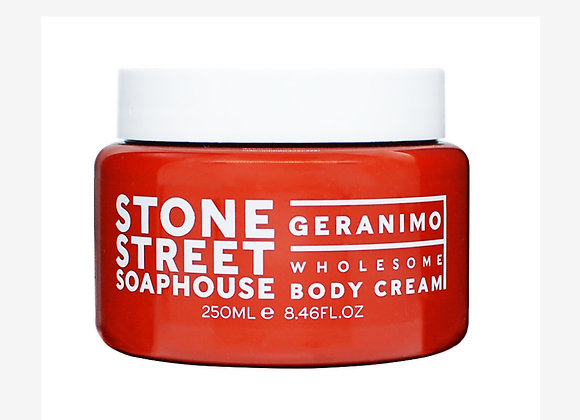 Stone Street Soaphouse - Geranimo - Wholesome Body Cream - Weather and Palette