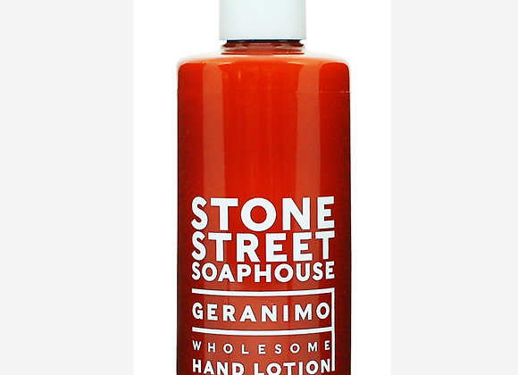 Stone Street Soaphouse - Geranimo - Wholesome Hand Lotion - Weather and Palette