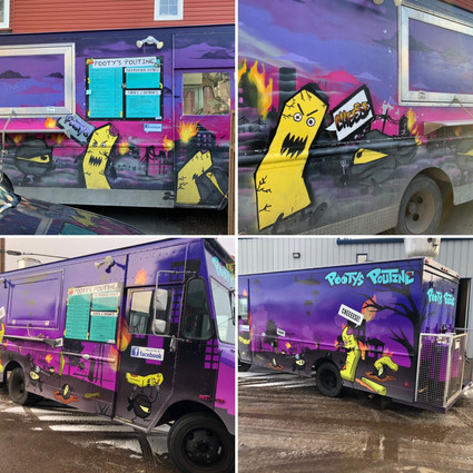 Before & After - Food Truck Graphic Design