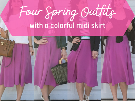 Four Ways To Style A Colorful Midi For Spring