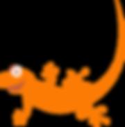 Gecko Glass Orange Gecko