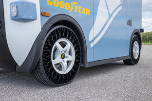Goodyear and Local Motors using an innovative airless tire for Olli