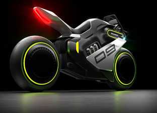 Segway's Tron-like hydrogen motorbike: the Apex H2