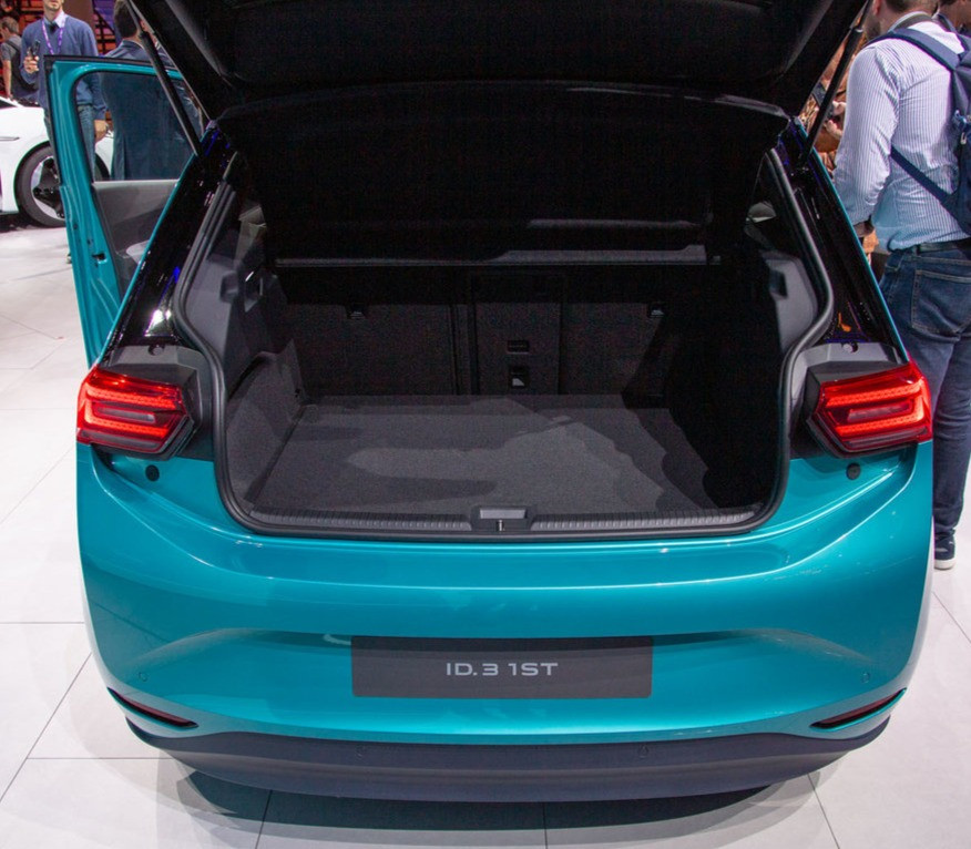 VW ID.3 electric vehicle boot space rear angle, 2020 automotive trends