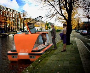 """MIT and AMS Institute testing autonomous electric """"Roboat"""" in the Amsterdam canals"""