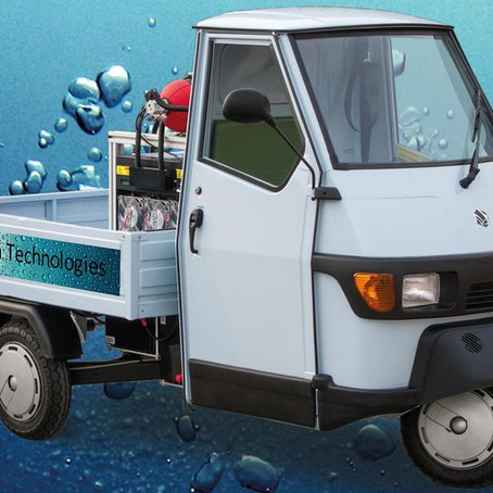 The hydrogen-powered Piaggio