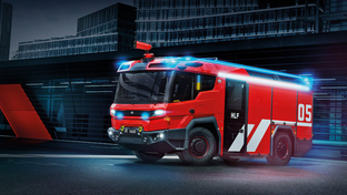 Rosenbauer brings the world its first hybrid electric fire truck