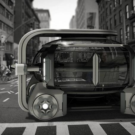 Renault's innovative exchangeable car pod design concept