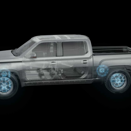 The world's first All-Wheel Drive electric pickup truck