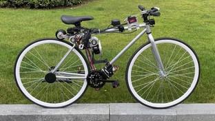Huawei engineers design self-driving bicycle