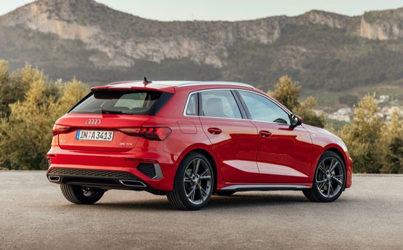 2020 Audi A3 35TDI Sportback rear angle, new car automotive
