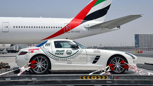 Dubai police take part in the legendary 'Mille Miglia' classic car race