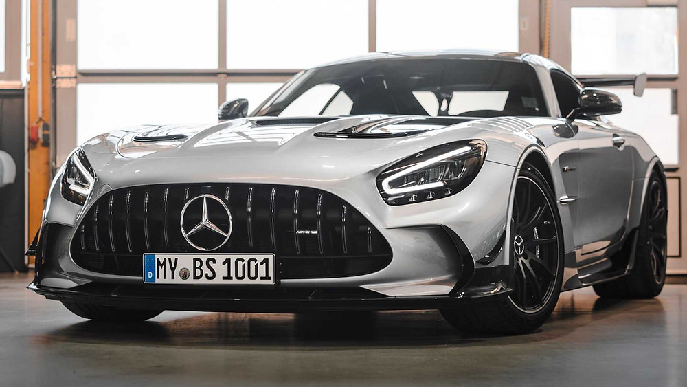 Mercedes AMG GT Black series front angle, car, automotive, vehicle