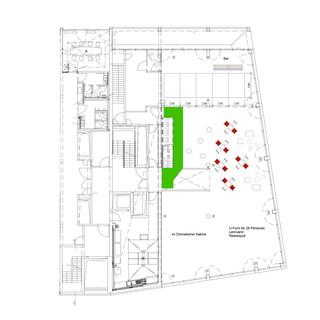 Bestuhlung Freiraum für Workshops 50 bis 200 Gäste