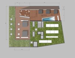 Pool und Poolterrasse Ebene 7