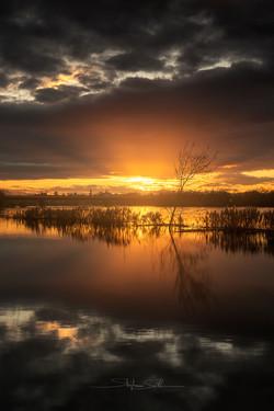 Sunset sur la Saône