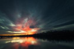 Sunset on the Saône river