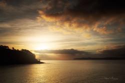 Lever de soleil en rade de Brest