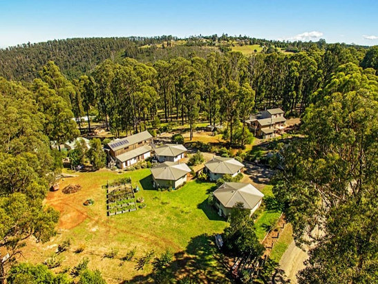 Drone view of the property