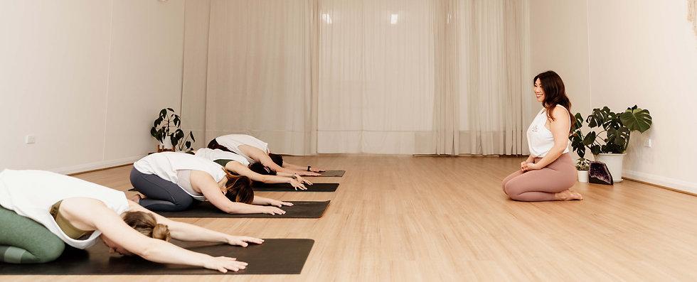 Yoga Classes in yoga studio