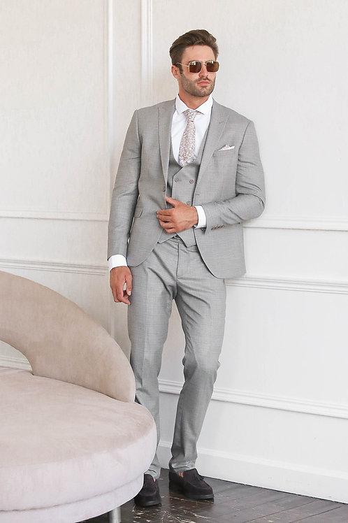 Серый фактурный костюм MСDUFF