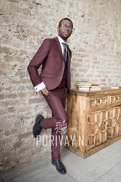 Бордовый костюм BORDEAUX Premium